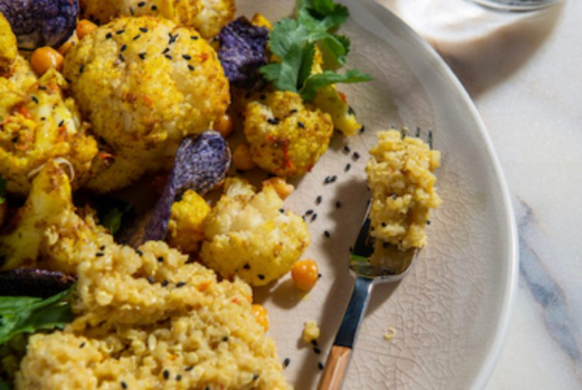 coconut cauliflower quinoa