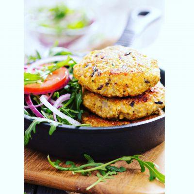 Jayne's Vegan Quinoa Veggie Burgers
