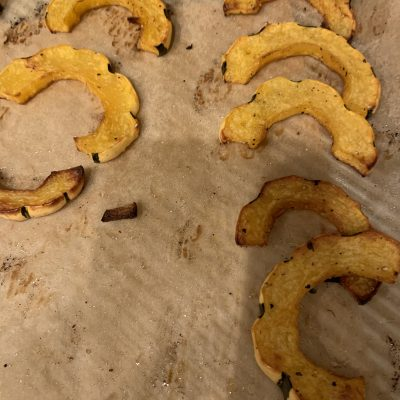 Crispy Roasted Delicata/Acorn Squash