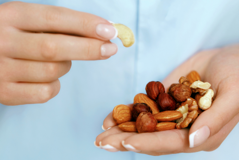 Nuts are a great example of fast food.